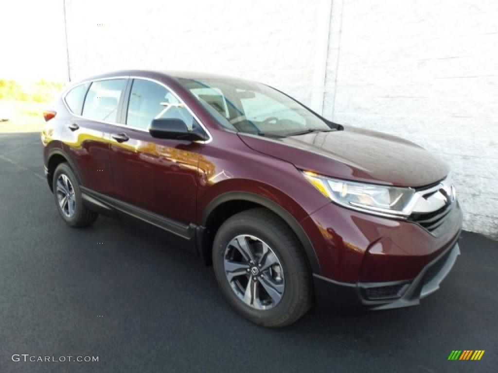2017 CR-V LX AWD - Basque Red Pearl II / Gray photo #1