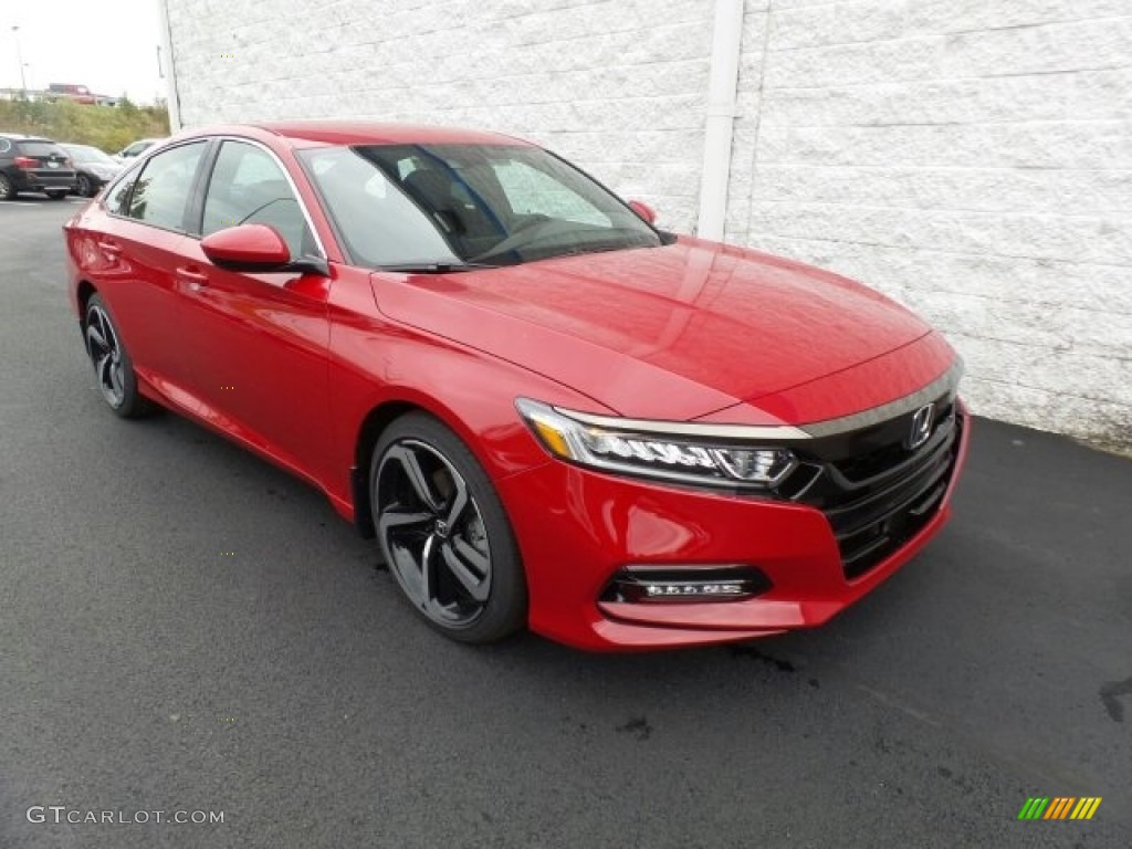 2018 San Marino Red Honda Accord Sport Sedan #123536125 ...