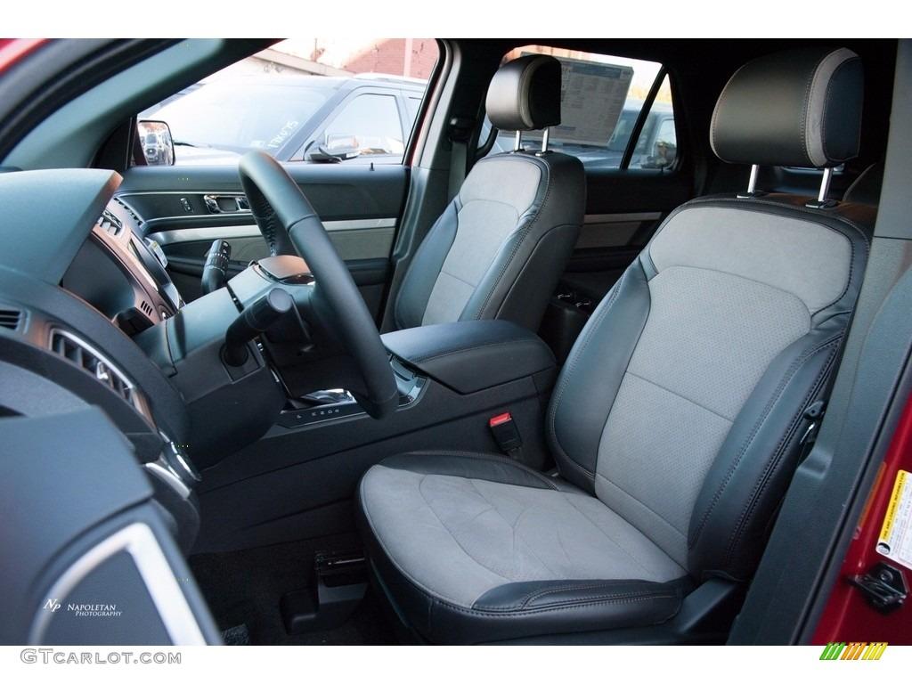 Sport Appearance Dark Earth Gray Interior 2017 Ford Explorer XLT 4WD Photo #123556975
