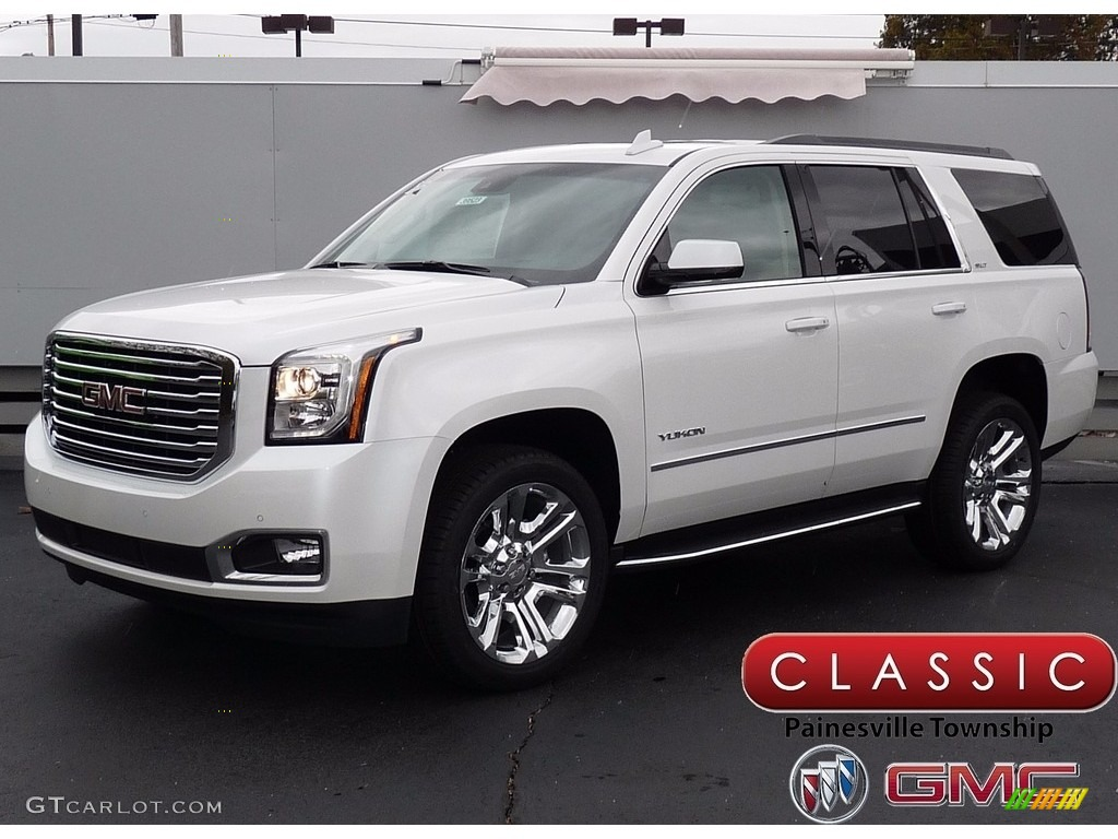 2018 White Frost Tricoat Gmc Yukon Slt 4wd 123590553 Gtcarlot Com Car Color Galleries