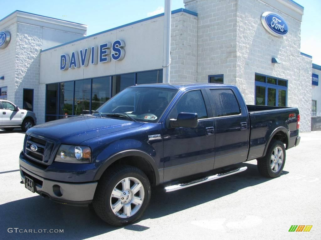 2007 f150 fx4 supercrew 4x4 dark blue pearl metallic black photo 1