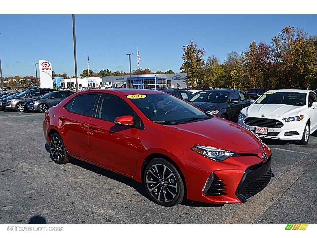 2017 Barcelona Red Metalic Toyota Corolla Se 123616329 Gtcarlot Com Car Color Galleries