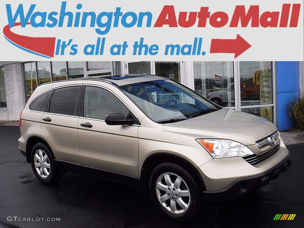 2009 CR-V EX 4WD - Borrego Beige Metallic / Ivory photo #1