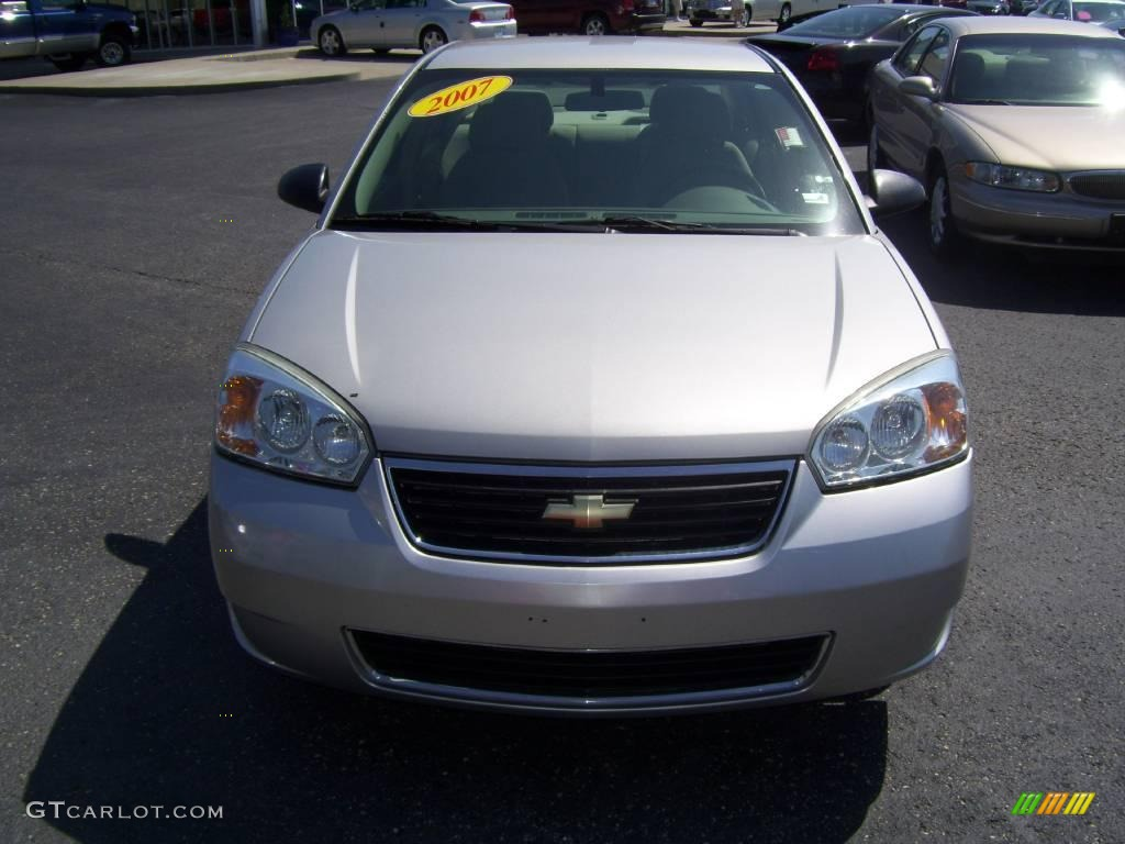 2007 Malibu LS Sedan - Silverstone Metallic / Titanium Gray photo #8
