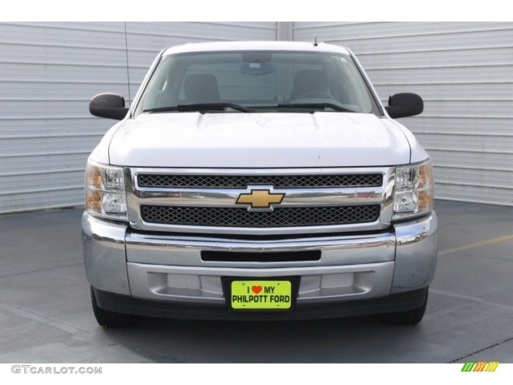 2012 Silverado 1500 LS Crew Cab - Summit White / Dark Titanium photo #2