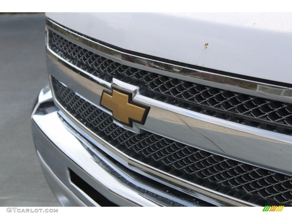 2012 Silverado 1500 LS Crew Cab - Summit White / Dark Titanium photo #4