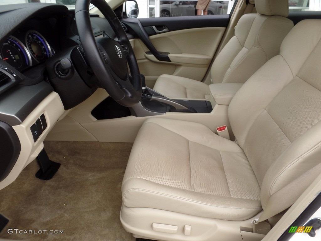 2009 TSX Sedan - Premium White Pearl / Parchment photo #11
