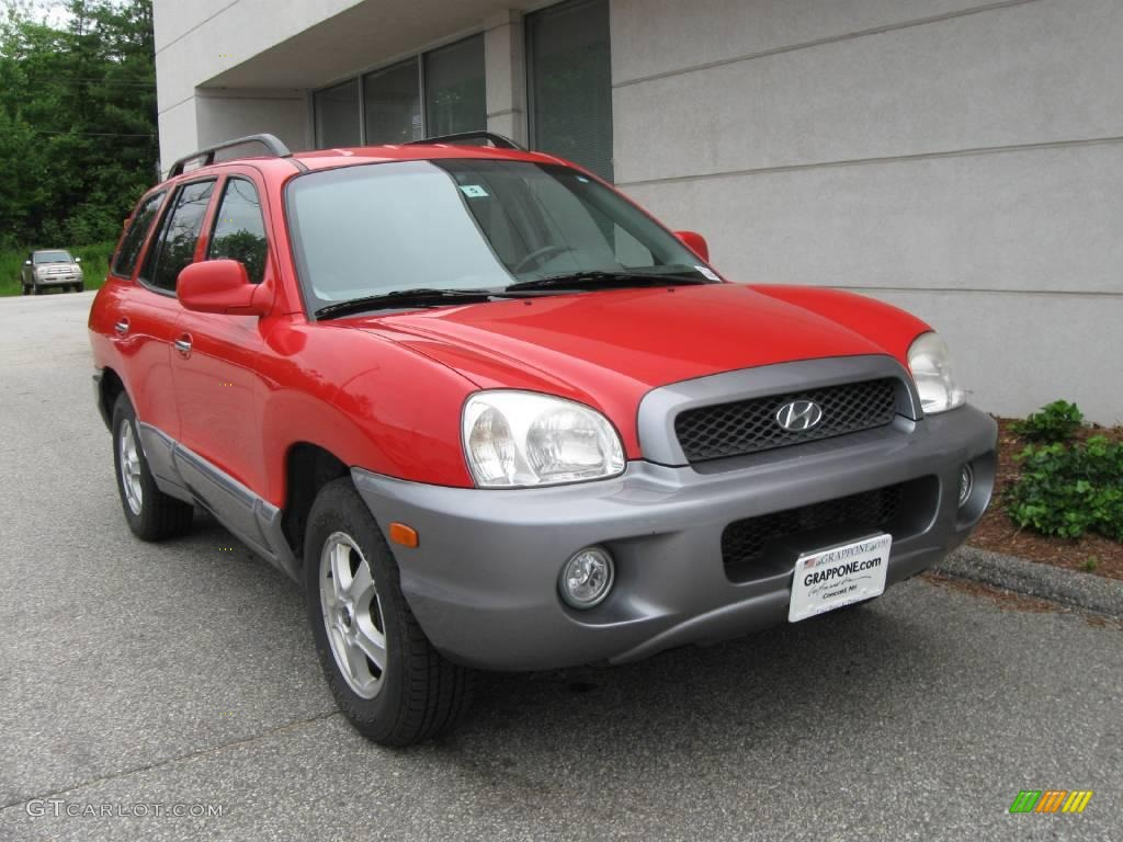 2003 canyon red hyundai santa fe lx 12352993 car color galleries. Black Bedroom Furniture Sets. Home Design Ideas