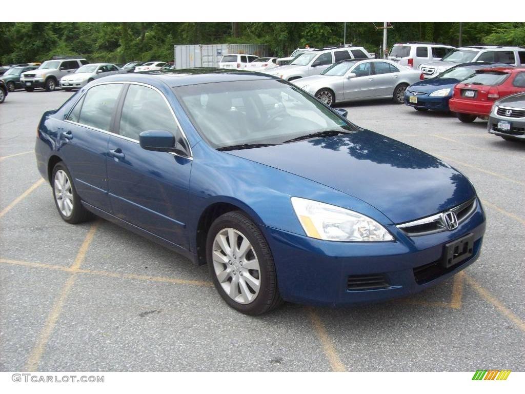 2006 Sapphire Blue Pearl Honda Accord Ex L V6 Sedan 12355203