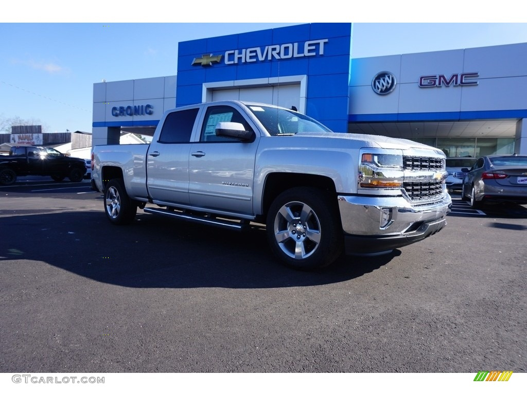 2018 Silverado 1500 LT Crew Cab - Silver Ice Metallic / Jet Black photo #1