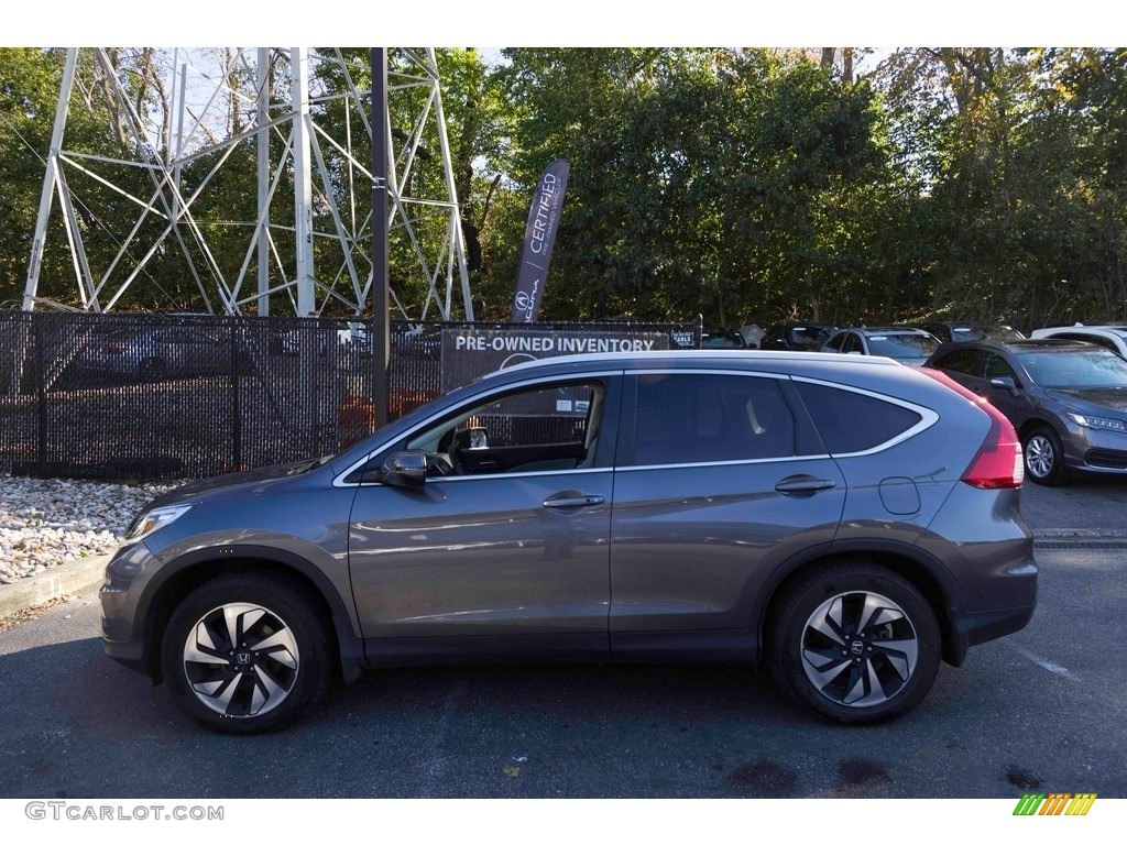 2015 CR-V Touring - Modern Steel Metallic / Gray photo #3