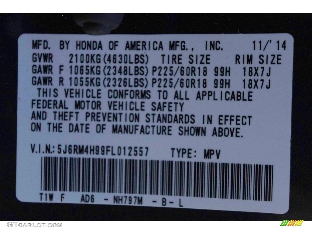 2015 CR-V Touring - Modern Steel Metallic / Gray photo #39