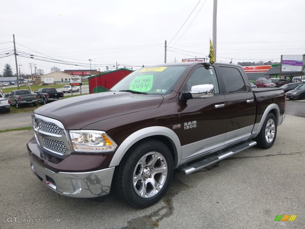 2014 1500 Laramie Crew Cab 4x4 - Western Brown / Canyon Brown/Light Frost Beige photo #1