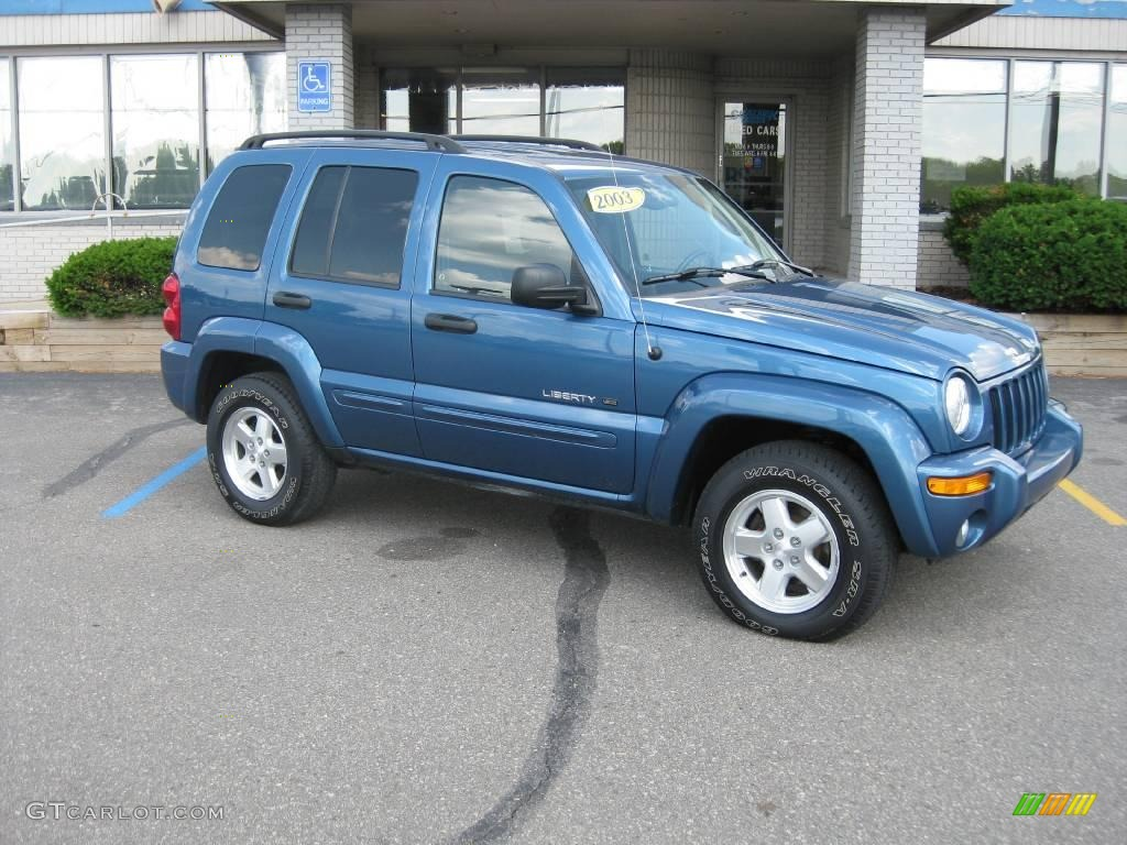 Atlantic blue pearl jeep liberty