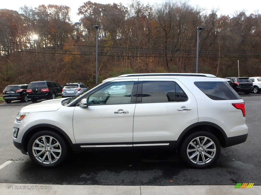Ingot Silver 2017 Ford Explorer Limited 4WD Exterior Photo #123933106