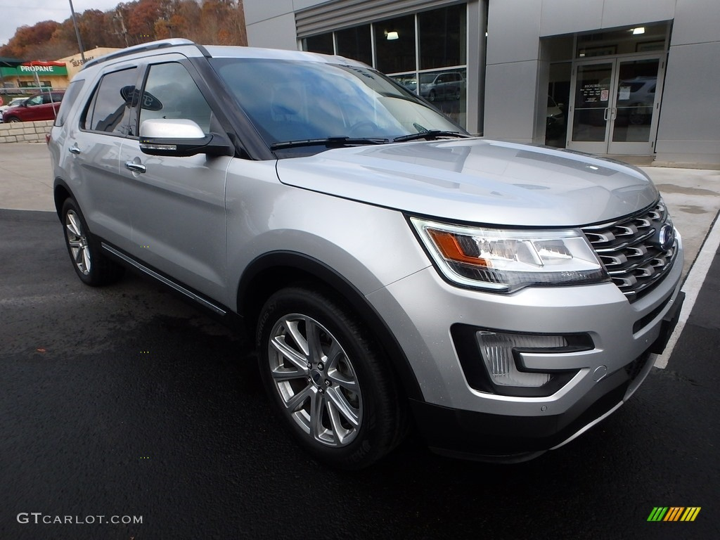 Ingot Silver 2017 Ford Explorer Limited 4WD Exterior Photo #123933184