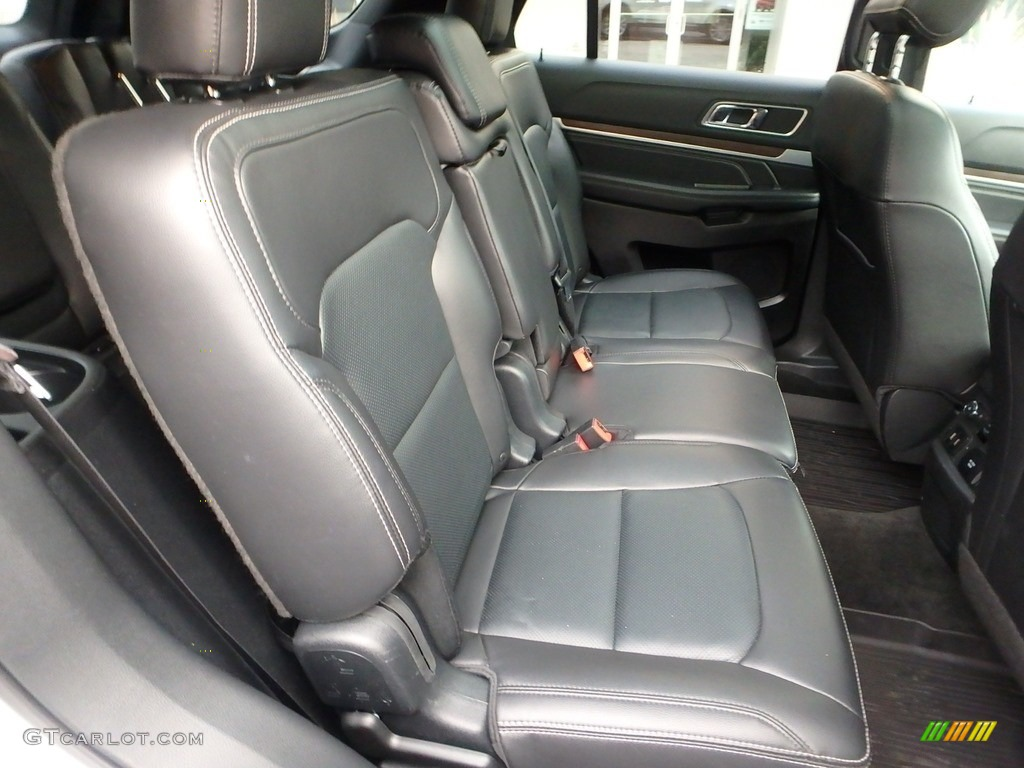 Ebony Black Interior 2017 Ford Explorer Limited 4WD Photo #123933319