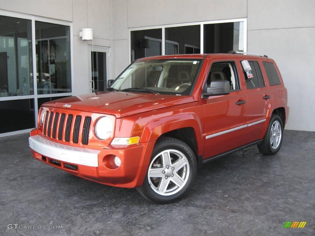 2008 sunburst orange pearl jeep patriot limited 12338940. Black Bedroom Furniture Sets. Home Design Ideas