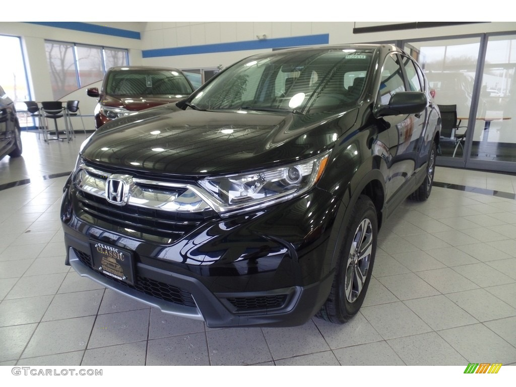 2018 CR-V LX AWD - Crystal Black Pearl / Black photo #1