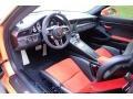 Black/Lava Orange Interior Photo for 2016 Porsche 911 #123994744
