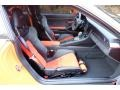 Black/Lava Orange Front Seat Photo for 2016 Porsche 911 #123994798