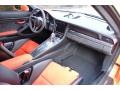 Black/Lava Orange Dashboard Photo for 2016 Porsche 911 #123994822