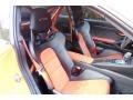 Black/Lava Orange Front Seat Photo for 2016 Porsche 911 #123994841