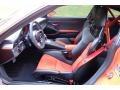 Black/Lava Orange Front Seat Photo for 2016 Porsche 911 #123994864