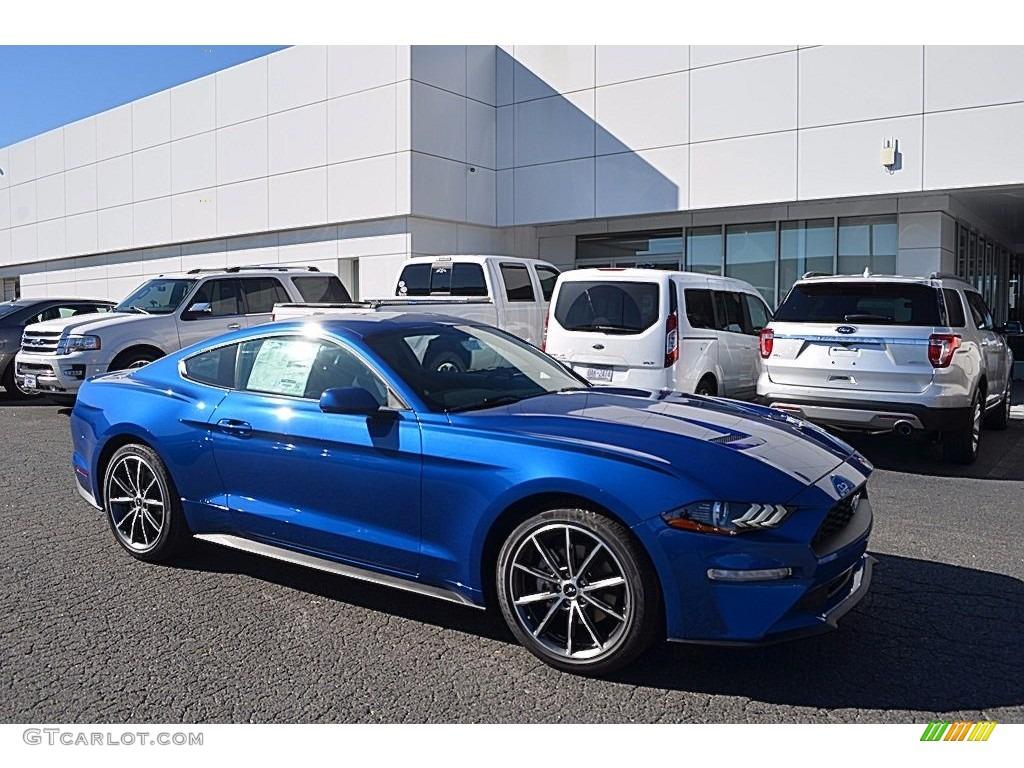 2018 Mustang EcoBoost Fastback - Lightning Blue / Ebony photo #1