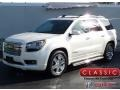 White Diamond Tricoat 2015 GMC Acadia Denali AWD