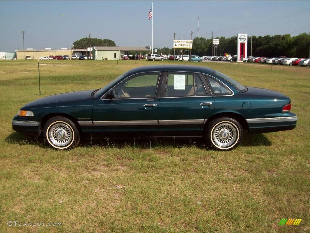 1994 crown victoria lx deep jewel green beige photo 13