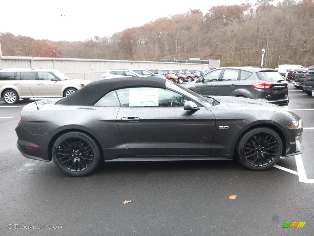 2018 Mustang GT Premium Convertible - Magnetic / Showstopper Red photo #1