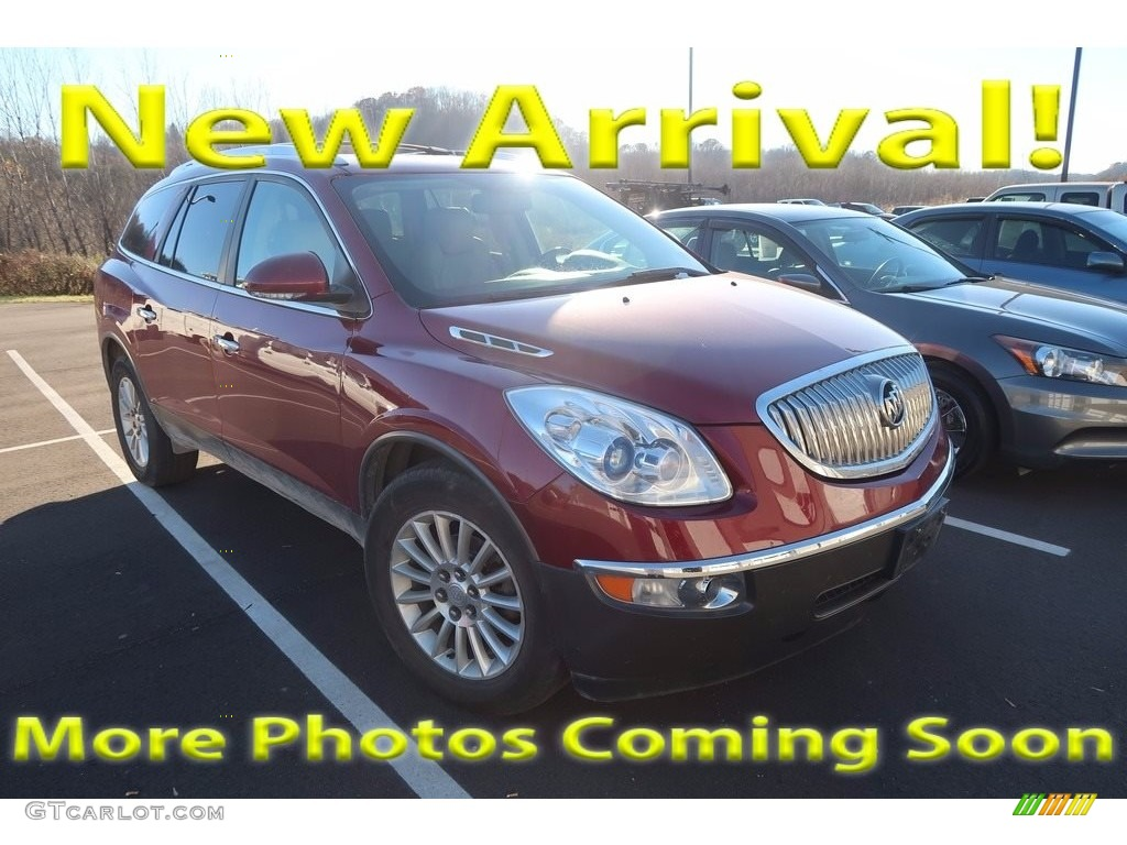 2011 Enclave CXL AWD - Red Jewel Tintcoat / Cashmere/Cocoa photo #1