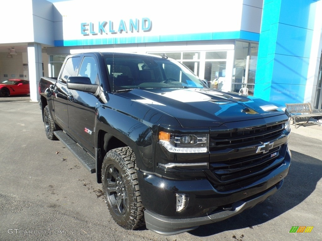 2018 Silverado 1500 LTZ Crew Cab 4x4 - Black / Jet Black photo #1