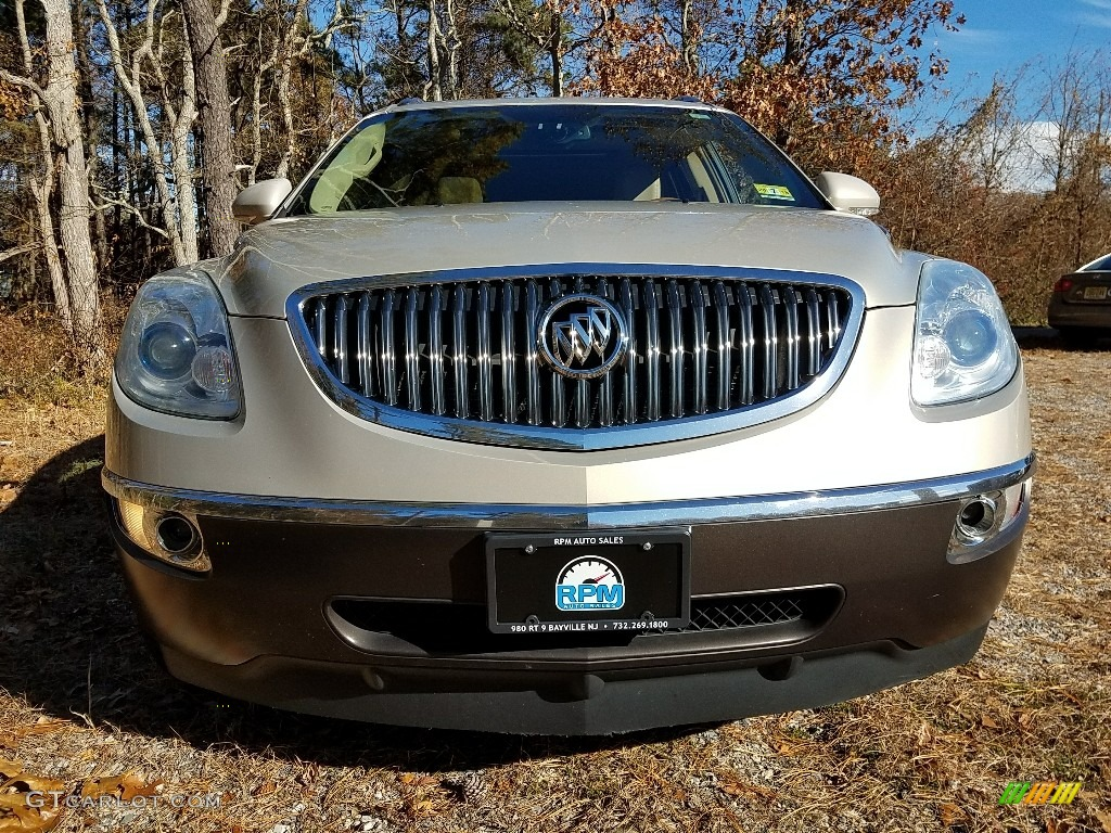 2009 Enclave CXL AWD - Gold Mist Metallic / Cocoa/Cashmere photo #2