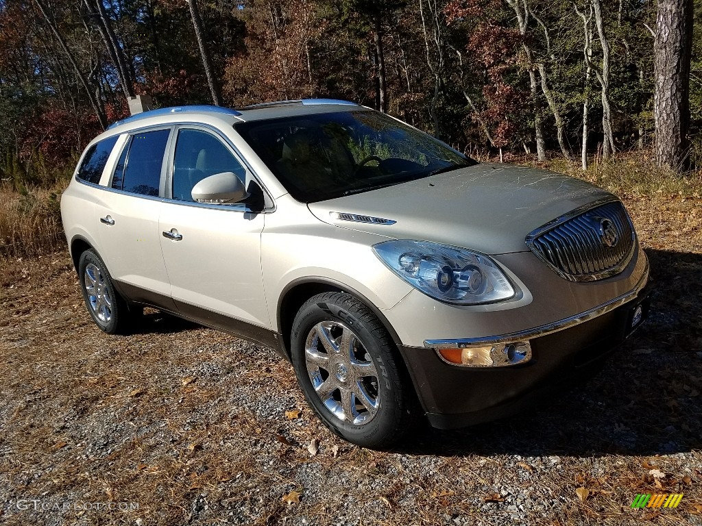 2009 Enclave CXL AWD - Gold Mist Metallic / Cocoa/Cashmere photo #3