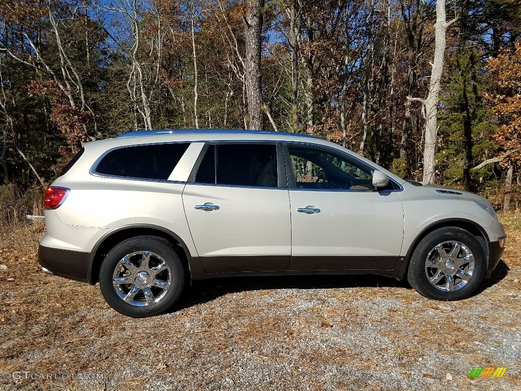2009 Enclave CXL AWD - Gold Mist Metallic / Cocoa/Cashmere photo #4