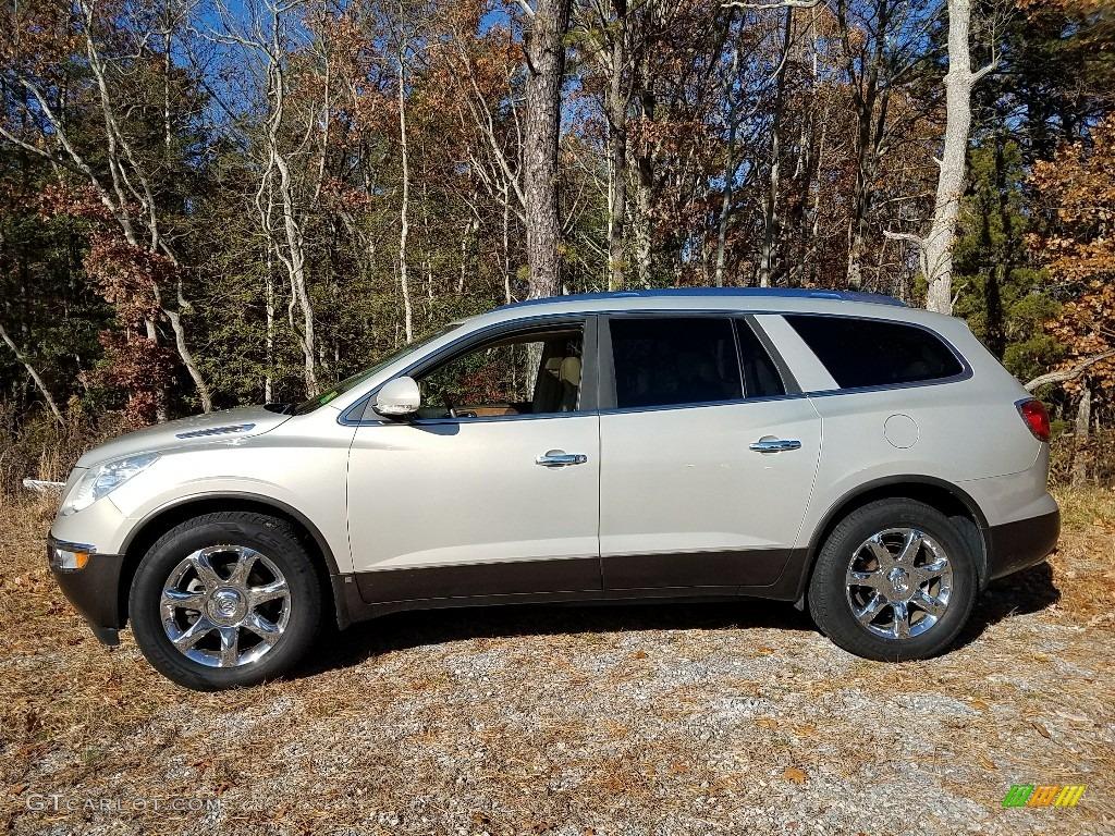 2009 Enclave CXL AWD - Gold Mist Metallic / Cocoa/Cashmere photo #5