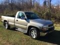 2000 Light Pewter Metallic Chevrolet Silverado 1500 LS Regular Cab 4x4 #124074902