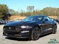 2018 Shadow Black Ford Mustang EcoBoost Fastback  photo #1