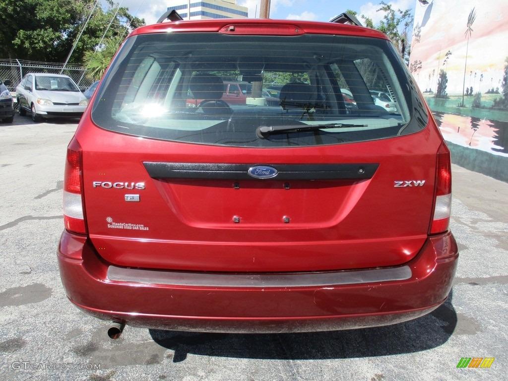 2005 Focus ZXW SES Wagon - Infra-Red / Dark Flint/Light Flint photo #7