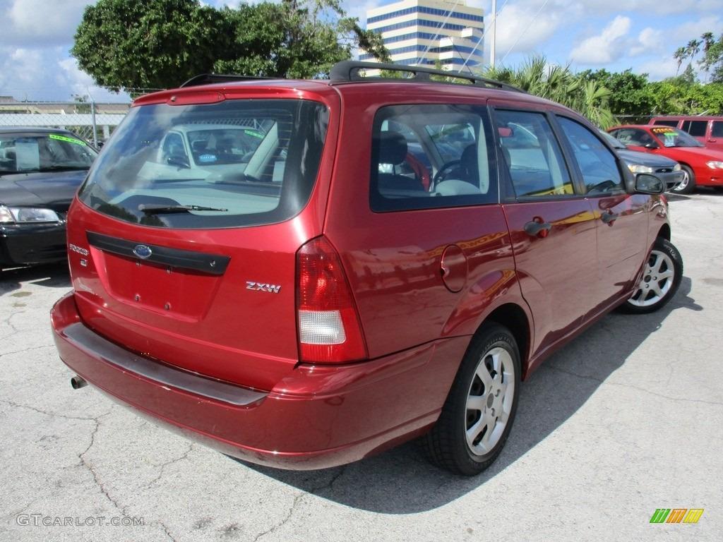 2005 Focus ZXW SES Wagon - Infra-Red / Dark Flint/Light Flint photo #8