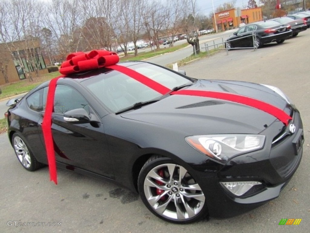 2013 Genesis Coupe 3.8 Track - Black Noir Pearl / Black Leather photo #1