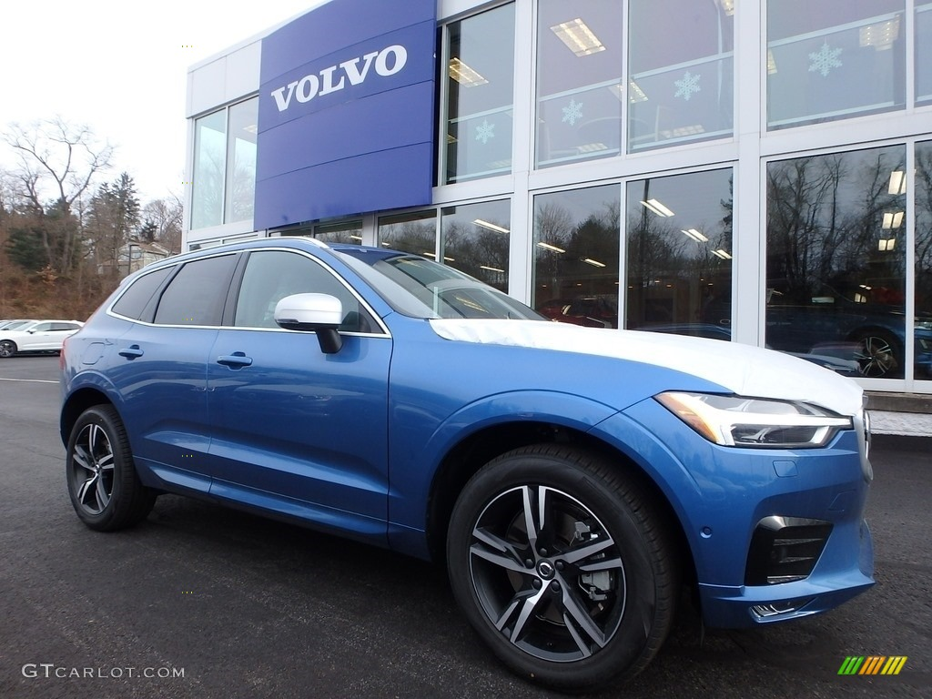 2018 Bursting Blue Metallic Volvo Xc60 T6 Awd R Design 124305134 Gtcarlot Com Car Color Galleries