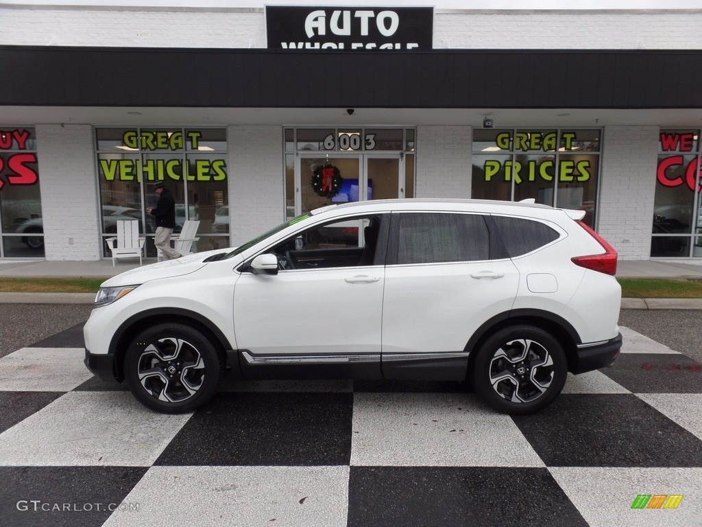 2017 CR-V Touring - White Diamond Pearl / Black photo #1