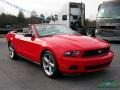 2011 Race Red Ford Mustang V6 Convertible  photo #7