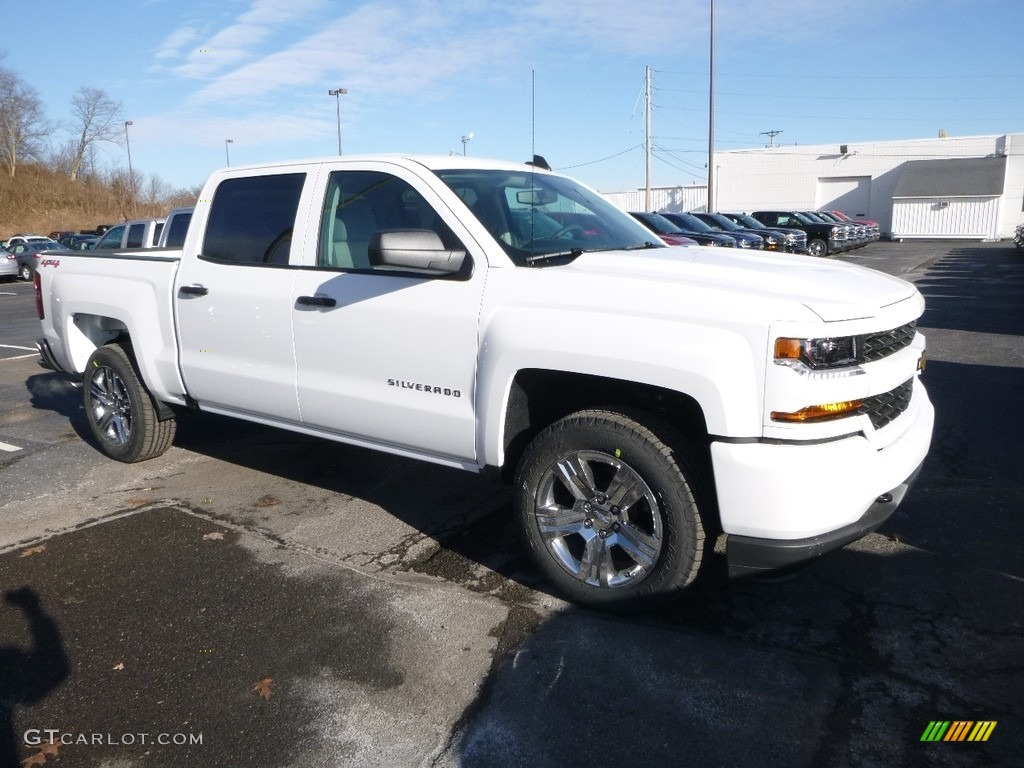 2018 Silverado 1500 Custom Crew Cab 4x4 - Summit White / Dark Ash/Jet Black photo #7