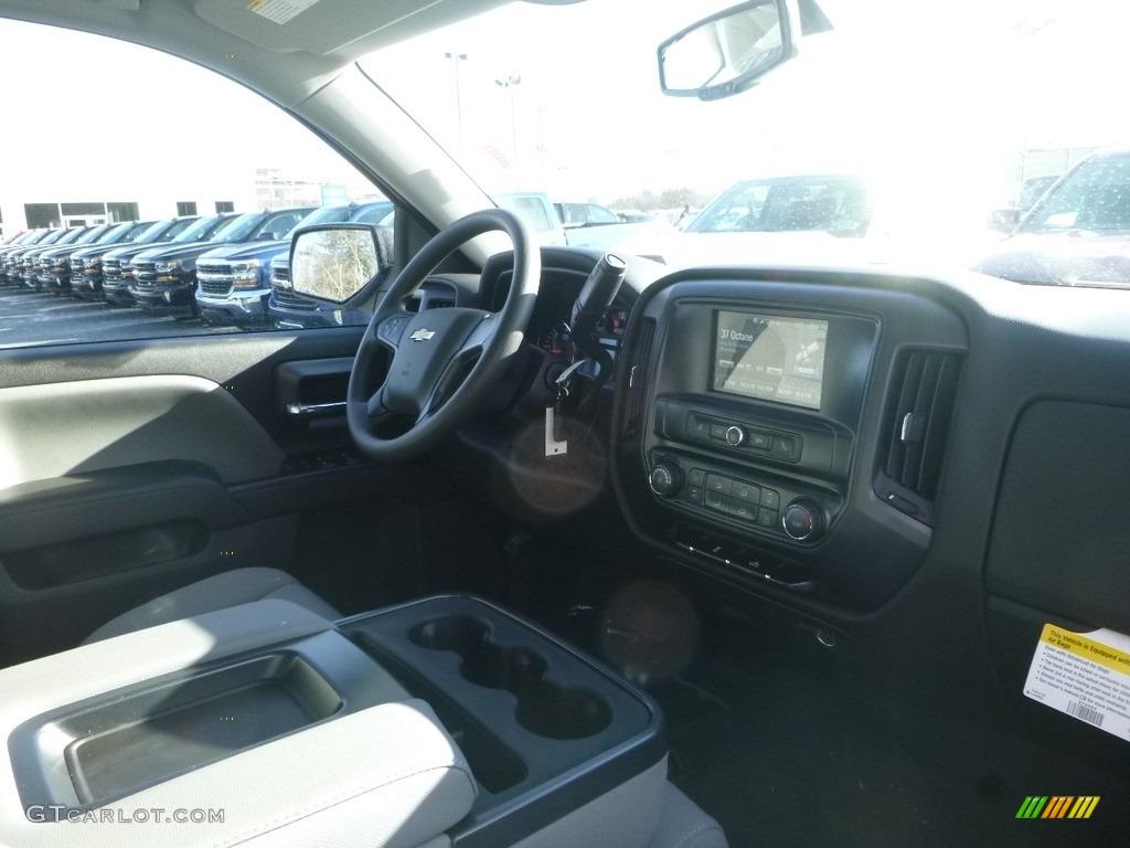 2018 Silverado 1500 Custom Crew Cab 4x4 - Summit White / Dark Ash/Jet Black photo #11