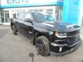 2018 Black Chevrolet Silverado 1500 LTZ Crew Cab 4x4  photo #4