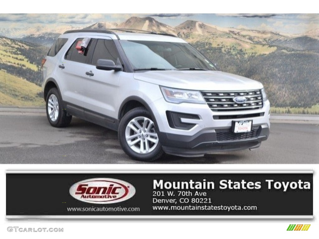 2016 Explorer 4WD - Ingot Silver Metallic / Medium Light Camel photo #1